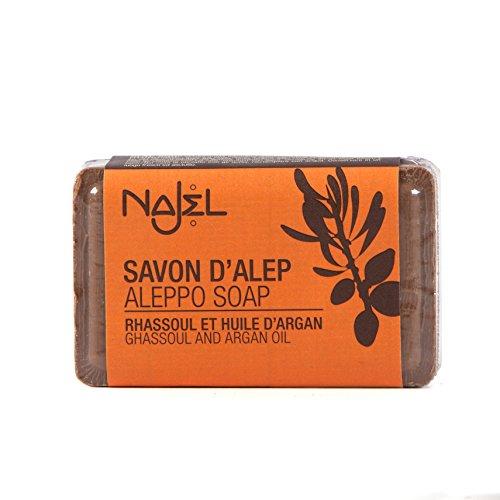 Najel Aleppo-Seife mit Rhassoul und Arganöl, 100 g