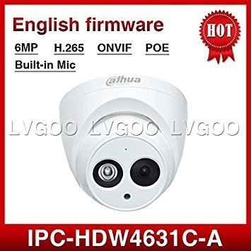 dahua 6mp ip camera ipc hdw4631c a poe metal network camera with built in micro upgrade model of 4mp camera ipc hdw4433c - Micro Bullet Camera Weatherproof