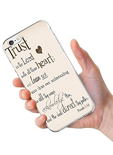 iPhone 6S Back Cover Protector Case 4.7 Inch Proverbs 3:5-6