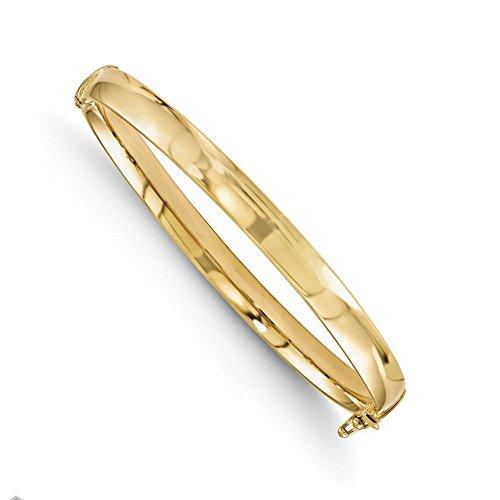 Bracelet Jonc en or jaune 10K-18cm-Or 9carats or de qualité plus élevé que