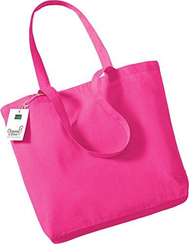 Westford Mill-Borsa per la spesa, in cotone biologico rosa fucsia
