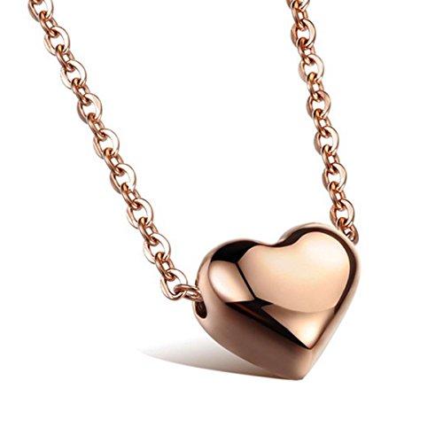 Stainless Steel Heart Pendant (Gold) - 4