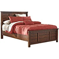 Ashley Furniture Signature Design - Ladiville Casual Panel Bedset - Full Size Bed - Rustic Brown