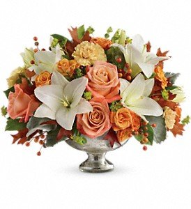 Harvest Shimmer Centerpiece by Harry's Famous Flowers