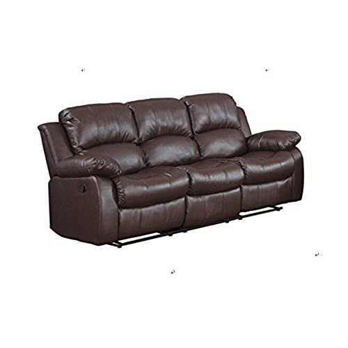 Awesome Classic And Traditional Brown Bonded Leather Recliner Chair, Love Seat, Sofa  Size   1 Seater, 2 Seater, 3 Seater Set (3 Seater)