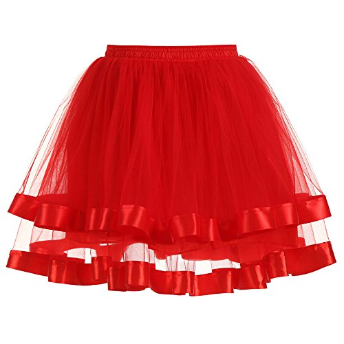 Couleurs Tutu lastique Girls Femmes Jupe Danse Ruffle Courte POachers Stretch Ballet Gauze Tutu Rouge Adulte Pliss Jupe Jupe Tulle Layered qIwYwA8x7
