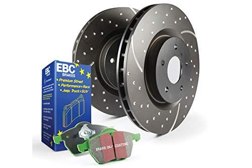 EBC Brakes S10KR1147 S10 Kits Greenstuff 2000 and GD Rotors Incl. Rotors and Pads Rear Rotor Dia. 10.5 in. S10 Kits Greenstuff 2000 and GD Rotors ()