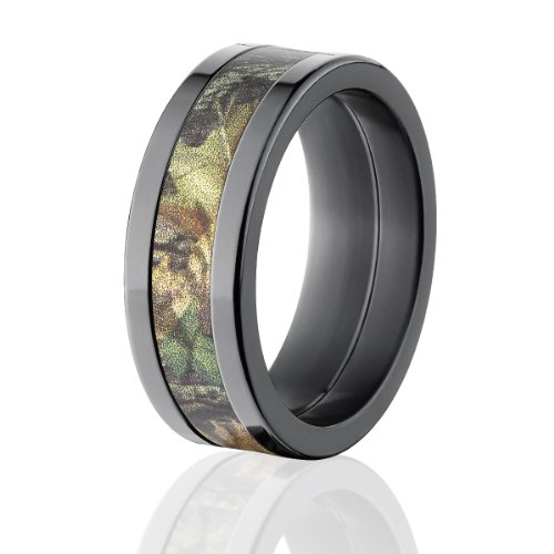 Mossy Oak Rings, Camouflage Wedding Bands, New Breakup Camo Ring by Official Licensed Mossy Oak Rings