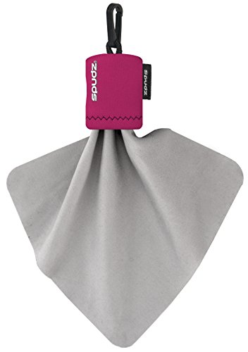 Micro Camera Pouch - Alpine Innovations Spudz Classic Microfiber Cloth, Screen Cleaner and Lens Cleaner, Pink, Regular, 6 x 6 Inches