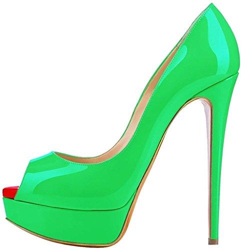 Kolnoo - Zapatos con tacón Mujer Babygreen