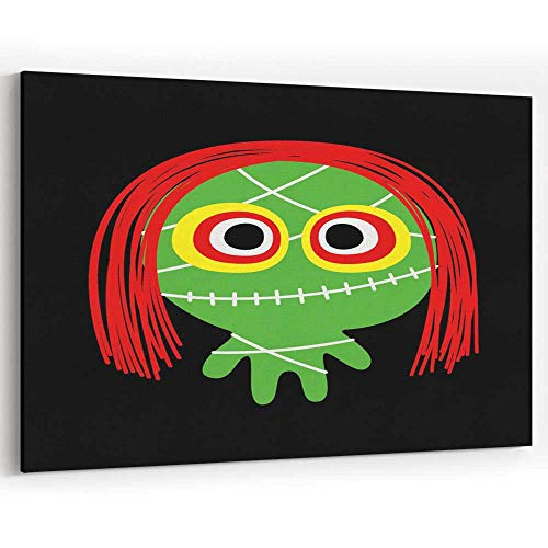 Cute Halloween Spooky Monster Character Vector jeffcyb Canvas Art Wall Dcor,Wall Decor/Decoration -