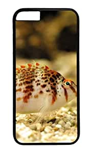 MOKSHOP Adorable Colorful fish Hard Case Protective Shell Cell Phone Cover For Apple Iphone 6 Plus (5.5 Inch) - PC Black