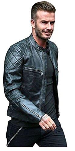 Lambskin Leather Mens David Beckham Leather Jacket Genuin...