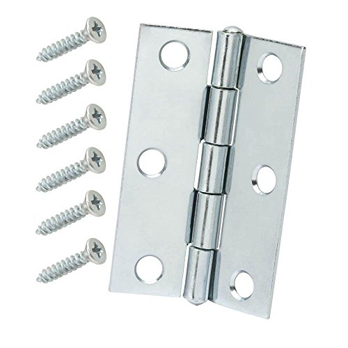 2-1/2 in. Zinc Plated Non-Removable Pin Narrow Utility Hinges (2-Pack) -  Crown Bolt, 15165
