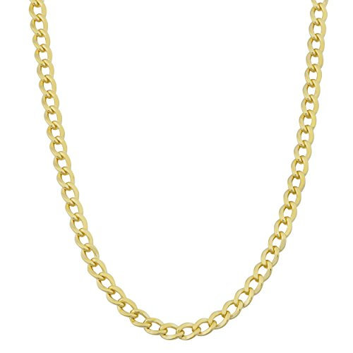 Kooljewelry 14k Yellow Gold Filled 3.2 mm High Polish Miami Cuban Curb Chain Necklace