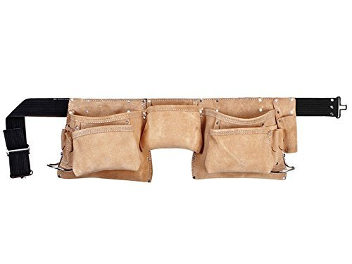 Kuny's AP-427X Contractor Grade Carpenters Multi Pocket Leather Work Tool Belt by Kuny's by Kuny'S