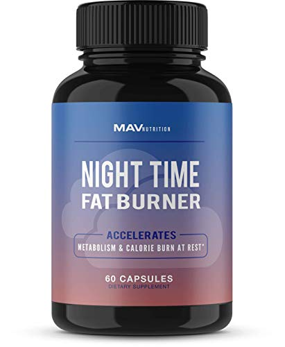 Weight Loss Pills Fat Burner for Night Time; Appetite Suppressant and Restful Night Sleep While Increasing Metabolism Rates and Decreasing Morning Cravings; Non-GMO, Keto Friendly