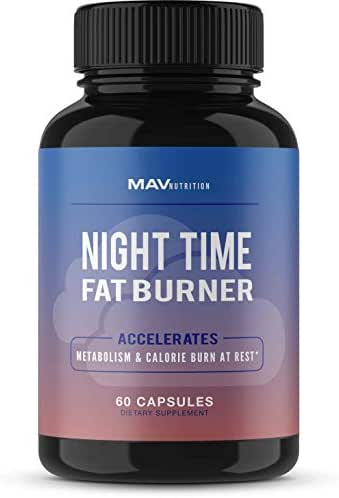 MAV Nutrition Weight Loss Pills Fat Burner for Night Time as Appetite Suppressant and Metabolism Boost, Non-GMO, 60 Count