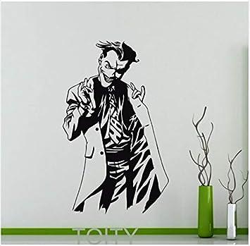 Joker de dibujos animados Cartel Negro Tatuajes de pared Dc Marvel ...