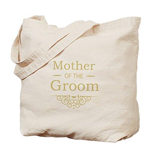 CafePress–madre de el novio oro–Gamuza de bolsa de lona bolsa, bolsa de la compra
