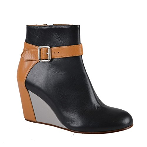 Maison Martin Margiela MM6 Leather Wedges Ankle Boots Shoes US 7 IT - Martin Maison