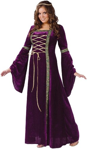 Lady Halloween Costumes (Fun World Costumes Plus-Size Funworld Deluxe Renaissance Lady, Purple, 16W-24W(Plus Size))