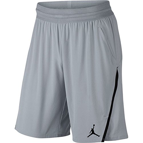aa2c3bc95f0 NIKE Mens Jordan Ultimate Flight Basketball Shorts Wolf Grey/Black  (XX-Large)