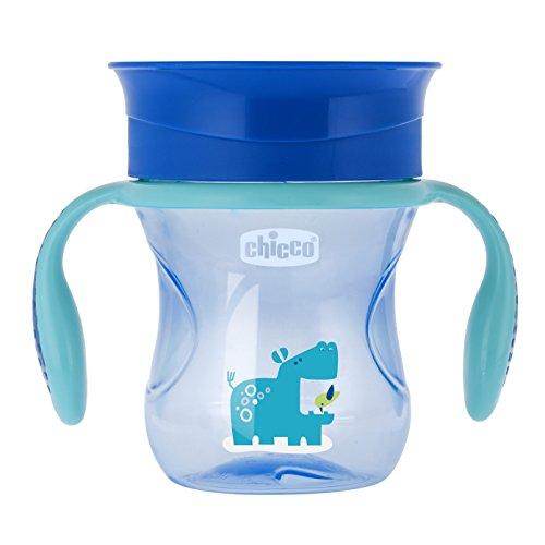 Chicco Biberon Perfect Cup 360 para Niño, 12 Meses, color Azul