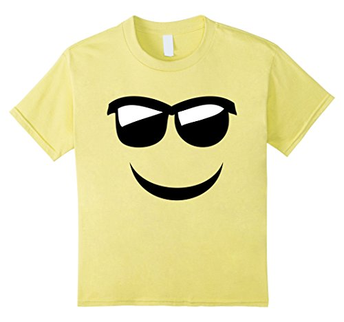 Kids Emoji With Sunglasses and Smile T-Shirt
