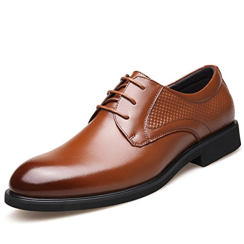 ZFNYY Chaussures en Cuir d'été des Hommes D'affaires Britanniques Occasionnels Robe Respirante Chaussures Tête Ronde Brown hZyMZ