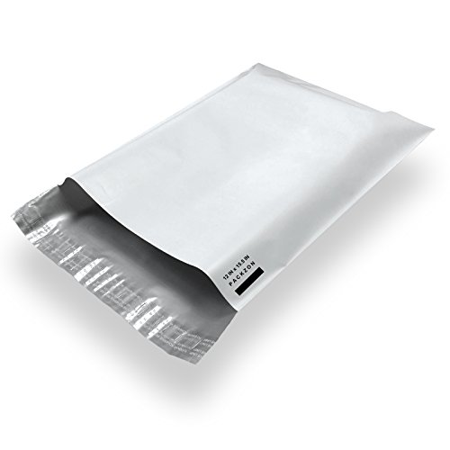 Packzon 100 12x15.5 Poly Mailers Envelope Shipping Bags with Self Sealing Flap ()