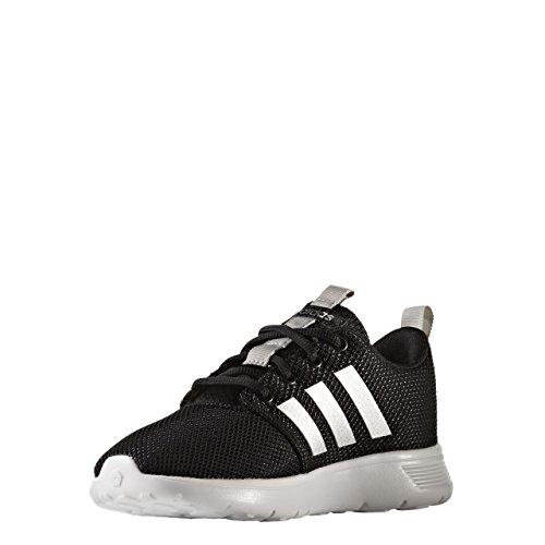 adidas Swifty K, Chaussures de Tennis Mixte Enfant, Noir (Negbas/Plamat/Ftwbla), 38 EU