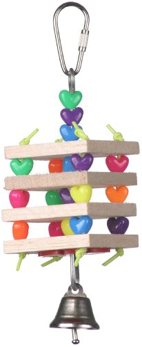 Image of Super Bird Creations 6-1/2 by 2-Inch Balsa Stack Bird Toy, Small