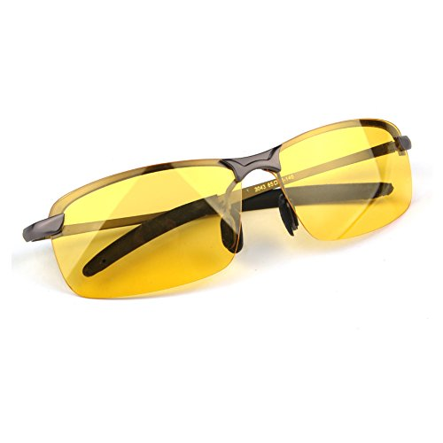 LOMEDO Yellow Night Vision Polarized Glasses for Hunting Driving Fishing Shooting Grey - Best Polarized Glasses Shooting