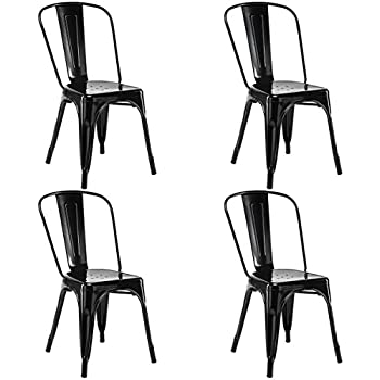 Amazon Com Costway Set Of 4 Tolix Style Dining Chair