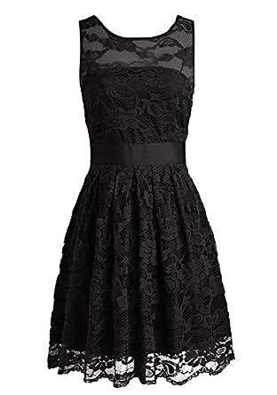 Wedtrend Women's Floral Lace Dress Bridesmaids Dress Short