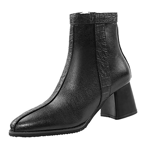JJHAEVDY Women's Chelsea Boots Suede Leather Ankle Boots Classic Comfortable Non-Slip Pointed Toe Half Boots for Daily