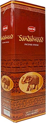 (HEM Sandal (Sandalwood) - Box of Six 20 Gram Tubes (120 Gram))