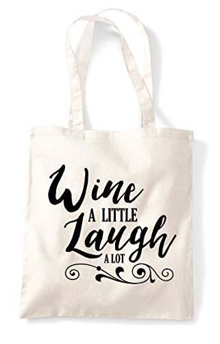 Lot Laugh A Bag Natural Tote Wine Statement Shopper Little Aqtn66OP