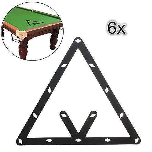hAohAnwuyg Pool Cue Rack Sheets,6Pcs 8 9 10 Ball Magic Invisible Rack Sheet Positioning Billiard Pool Cue Tool - Black