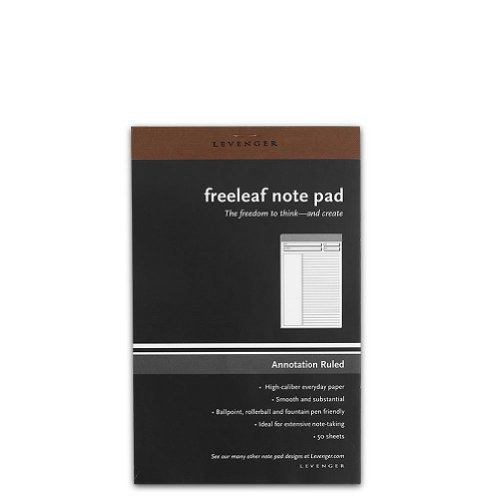 Freeleaf - Levenger Freeleaf Annotation Ruled Pads, Junior (5) (ADS5580 JNR)