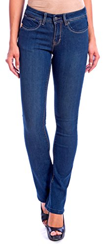 Lola Jeans Women's Lauren Mid Rise 4-Way Stretch Denim Classic Boot Cut Jean (Medium Stone Blue, Size 31/10)
