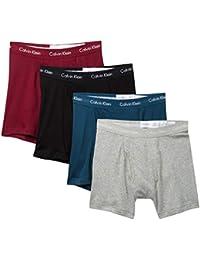 Men`s Cotton Boxer Briefs 4 Pack (Black(NP2009-923)/Grey Heather, X Large)