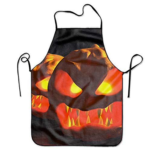 YDYOOD Scary Halloween Pumpkin Carving Cooking Apron,Funny BBQ or Kitchen Aprons for Women and Men,Ideal for Kitchen,Parties,Garden,Camping and More -