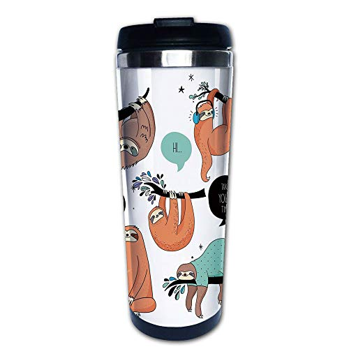 Stainless Steel Insulated Coffee Travel Mug,Tribe of Sloths
