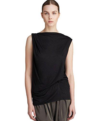 - Helmut Lang Scala Crossover Drape Jersey Top, Black, Medium