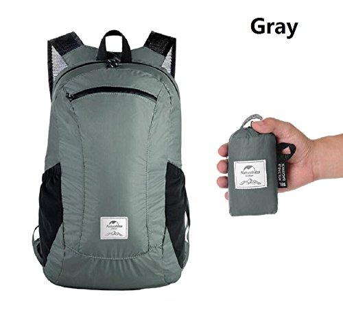 Sunuo Outdoor Folding Waterproof Portable Packable Pocket Bag Travel Walking Lightweight Backpack Sports Bag Shoulder Bag Daypack 18L
