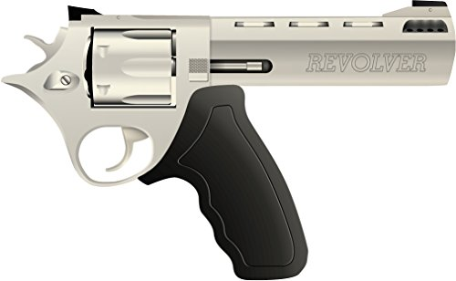 8' Revolver (Suicide Revolver Home Decal Vinyl Sticker 14'' X 8'')