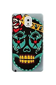 LarryToliver Customizable Awesome Beautiful Skull Arts Background image samsung note 3 Case / Cover Your Phone #1