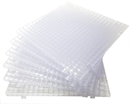 Creator's Waffle Grid 6-Pack Translucent/Clear Modular Surface For Glass Cutting, Drying Rack, Small Parts or Liquid Containment. Use At Home, Office, Shop - Works With Creator's Or Morton Products